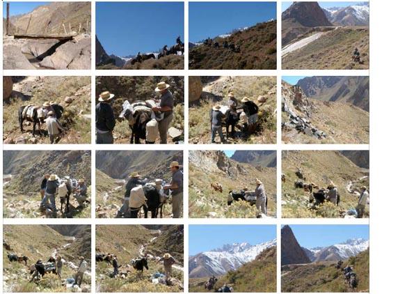 Viaje recolección de piedra basalto, area volcan Tupungato